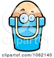 Clipart Bucket Of Sand Character Royalty Free Vector Illustration by Cory Thoman