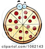 Clipart Pepperoni Pizza Character Royalty Free Vector Illustration