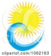 Clipart Summer Sun And Ocean Wave 5 Royalty Free Vector Nature Illustration