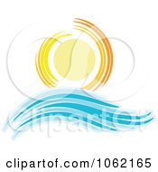 Clipart Summer Sun And Ocean Wave 6 Royalty Free Vector Nature Illustration by KJ Pargeter