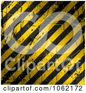 Clipart Golden Scratched Hazard Stripes Background Royalty Free Vector Illustration