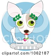 Clipart Chihuahua Philosopher Giving A Speech Royalty Free Vector Dog Illustration by Maria Bell
