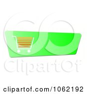 Clipart Green Shopping Cart Button Royalty Free Illustration