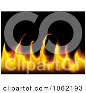 Clipart Flame Background Royalty Free Illustration