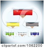Clipart Leather Paper Tabs Digital Collage 2 Royalty Free Vector Illustration