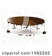 Clipart Milk Chocolate Dripping Royalty Free Vector Illustration by michaeltravers