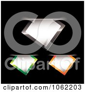 Clipart Leather Paper Tags And Slips Digital Collage 1 Royalty Free Vector Illustration