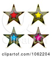Clipart Grid Stars Digital Collage Royalty Free Vector Illustration by michaeltravers