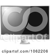 Clipart 3d Silver Computer Monitor Or Lcd Television Royalty Free Vector Illustration by michaeltravers