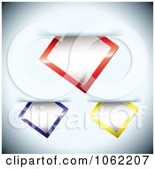 Clipart Leather Paper Tags And Slips Digital Collage 2 Royalty Free Vector Illustration