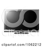 Clipart 3d Black Lcd Television Royalty Free Vector Illustration