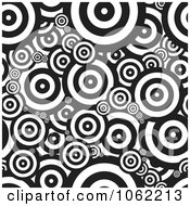 Clipart Psychedelic Retro Circles Seamless Background Royalty Free Vector Illustration
