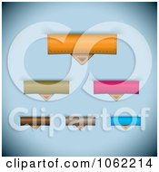 Clipart Leather Paper Tabs Digital Collage 1 Royalty Free Vector Illustration