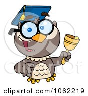 Clipart Professor Owl Ringing A Bell 1 Royalty Free Vector Illustration by Hit Toon
