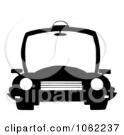 Clipart Black And White Police Patrol Car Royalty Free Vector Illustration by Hit Toon