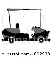 Clipart Black And White Golf Car Royalty Free Vector Illustration