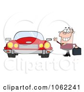 Commuter Businessman And Converitble Car