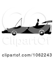 Clipart Black And White Cabriolet Car Royalty Free Vector Automotive Illustration