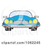 Clipart Blue Convertible Car Royalty Free Vector Automotive Illustration