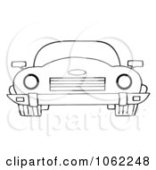Clipart Outlined Convertible Car Royalty Free Vector Automotive Illustration
