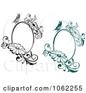 Clipart Butterfly Daisy Frames Digital Collage Royalty Free Vector Illustration