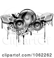 Clipart Music Speakers Arrows And Grunge Royalty Free Vector Illustration by Vector Tradition SM