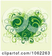 Clipart Green Floral Heart Royalty Free Vector Illustration by Vector Tradition SM