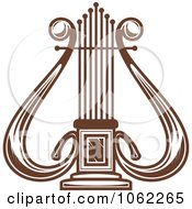 Clipart Brown Lyre Royalty Free Vector Illustration by Vector Tradition SM
