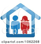 Clipart Couple In A House Royalty Free Vector Illustration