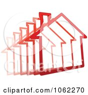 Clipart Zooming Red House Royalty Free Vector Illustration