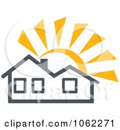 Clipart Solar Powered House 1 Royalty Free Vector Illustration