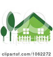 Clipart Green House Royalty Free Vector Illustration