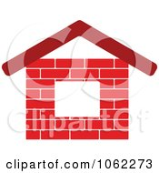 Clipart Brick House Logo Royalty Free Vector Illustration