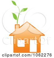 Clipart Eco Home 4 Royalty Free Vector Illustration
