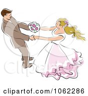 Clipart Dancing Wedding Couple 1 Royalty Free Vector Illustration