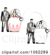 Clipart Wedding Couples Digital Collage Royalty Free Vector Illustration by Vector Tradition SM