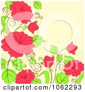 Clipart Pink Floral Background 10 Royalty Free Vector Illustration
