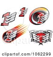 Motorsports Icons Digital Collage
