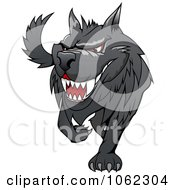 Clipart Menacing Wolf Royalty Free Vector Illustration by Vector Tradition SM
