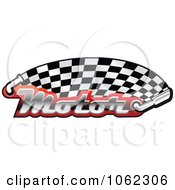 Clipart Motor And Exhaust Race Banner 1 Royalty Free Vector Illustration by Vector Tradition SM