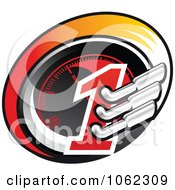 Clipart Race Car Speedometer Mufflers And One Royalty Free Vector Illustration by Vector Tradition SM