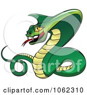 Clipart Menacing Viper Snake Royalty Free Vector Illustration
