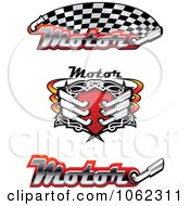Clipart Racing Banners And Exhaust Royalty Free Vector Illustration by Vector Tradition SM