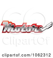 Clipart Motor And Exhaust Race Banner 2 Royalty Free Vector Illustration by Vector Tradition SM