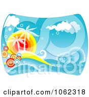 Clipart Palm Tree Island 3 Royalty Free Vector Clip Art Illustration by Vector Tradition SM