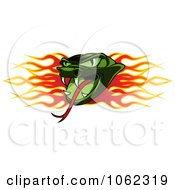 Clipart Viper And Flames Banner Royalty Free Vector Illustration