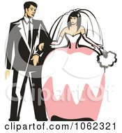 Clipart Wedding Couple Royalty Free Vector Illustration by Vector Tradition SM