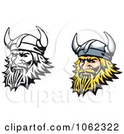 Clipart Viking Men Digital Collage Royalty Free Vector Illustration by Vector Tradition SM
