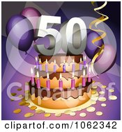 3d 50th Birthday Or Anniversary Party Cake