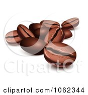 Clipart 3d Roasted Coffee Beans Royalty Free Vector Illustration by Oligo #COLLC1062344-0124